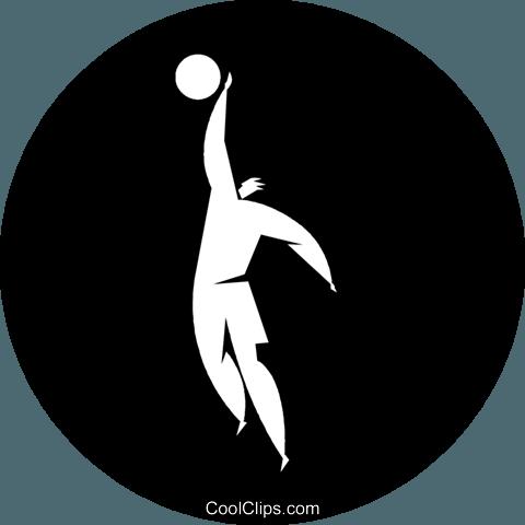篮球运动员 免版税矢量剪贴画插图