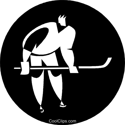 hockey player Royalty Free Vector Clip Art illustration vc055849