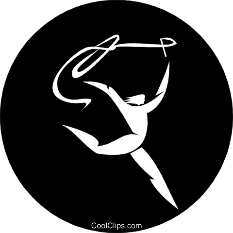 gymnast Royalty Free Vector Clip Art illustration vc055854