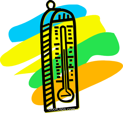 Thermometers Royalty Free Vector Clip Art illustration vc056027