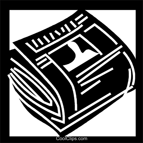 Periodicals Newspapers Magazines Royalty Free Vector Clip Art illustration vc056245