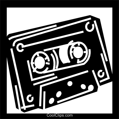 Cassette Tapes Royalty Free Vector Clip Art illustration vc056259