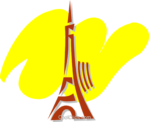 Eiffel Tower Royalty Free Vector Clip Art illustration vc056448