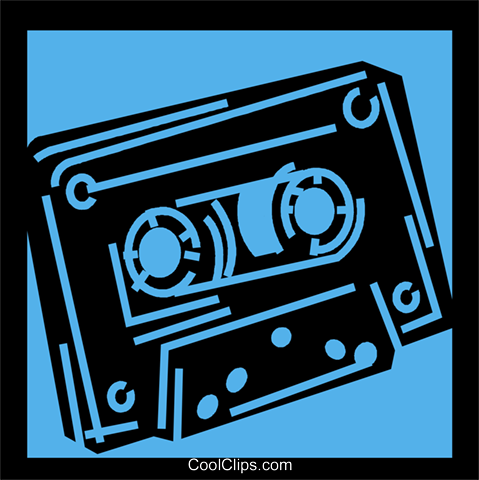 Cassette Tapes Royalty Free Vector Clip Art illustration vc056793