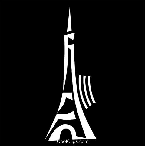 Eiffel Tower Royalty Free Vector Clip Art illustration vc056967