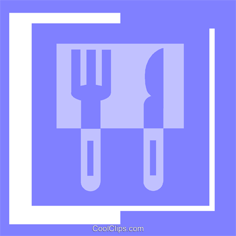 eating utensils Royalty Free Vector Clip Art illustration vc057291