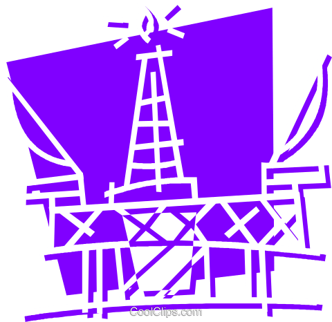 Offshore Drilling Platforms Royalty Free Vector Clip Art illustration vc058385