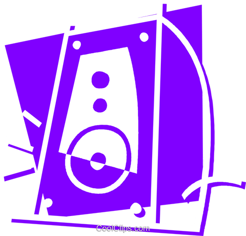 Speakers Royalty Free Vector Clip Art illustration vc058403