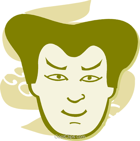Faces Royalty Free Vector Clip Art illustration vc058570