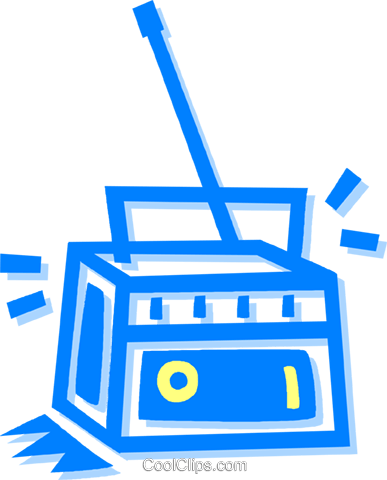 radio Royalty Free Vector Clip Art illustration vc058657