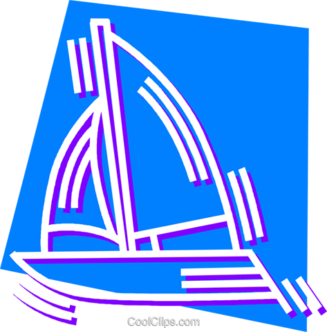 Sailboats Royalty Free Vector Clip Art illustration vc058995