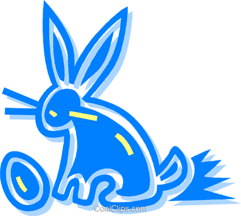 Easter Bunny Royalty Free Vector Clip Art illustration vc059141
