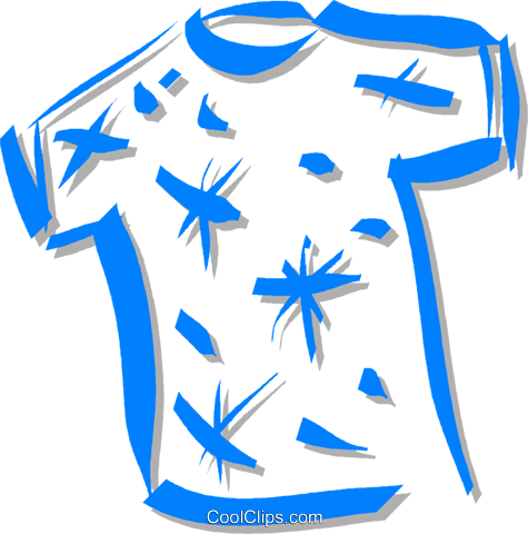 t-shirt Royalty Free Vector Clip Art illustration vc059277