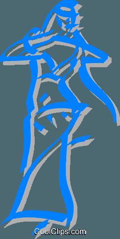 exotic dancer royalty free vector clip art illustration
