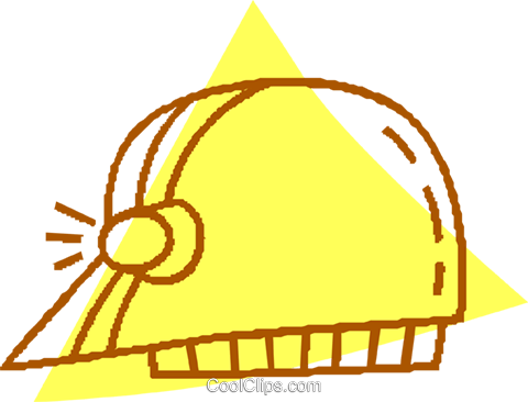 miners hat Royalty Free Vector Clip Art illustration vc059678