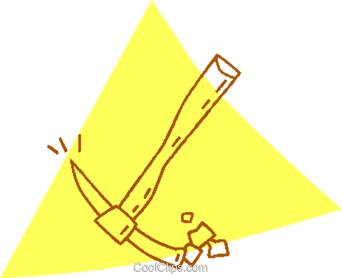 pick axe Royalty Free Vector Clip Art illustration vc059721