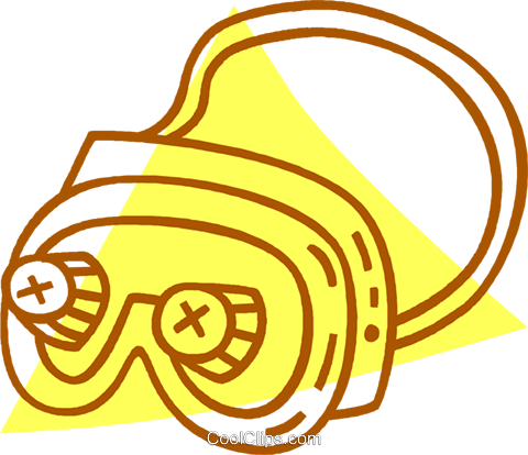 safety goggles Royalty Free Vector Clip Art illustration vc059751