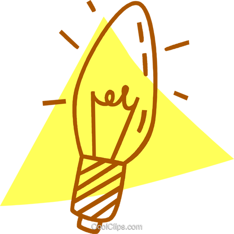 light bulb Royalty Free Vector Clip Art illustration vc059770