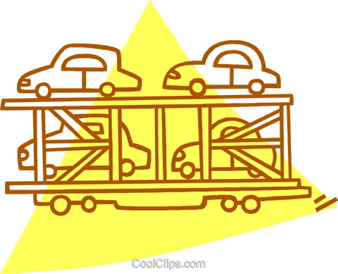 transporting cars Royalty Free Vector Clip Art illustration vc059774