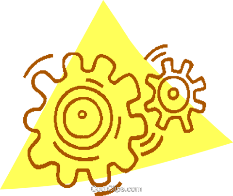 gears Royalty Free Vector Clip Art illustration vc059794