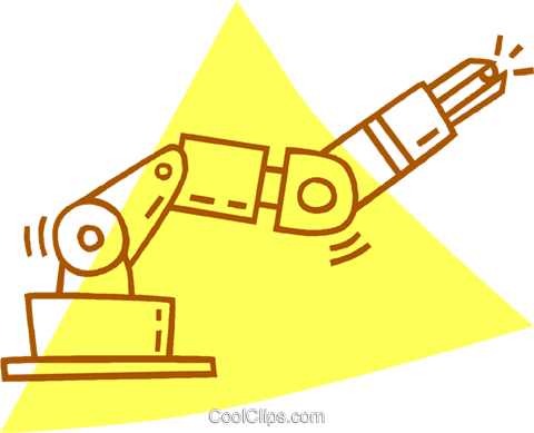 robotic arm Royalty Free Vector Clip Art illustration vc059799
