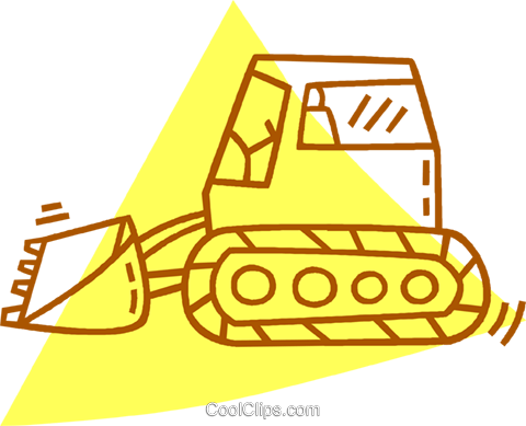 heavy machinery Royalty Free Vector Clip Art illustration vc059827
