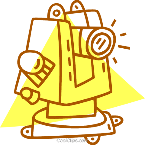 telescope Royalty Free Vector Clip Art illustration vc059847