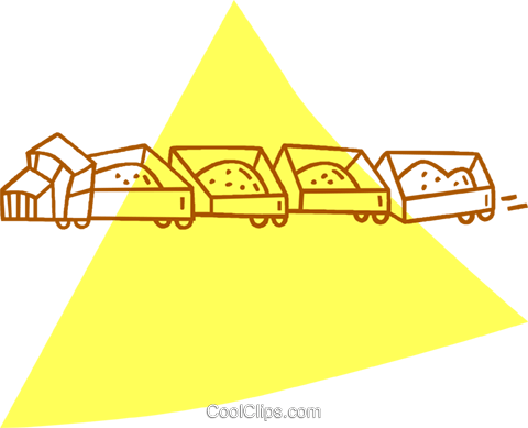 mining cars Royalty Free Vector Clip Art illustration vc059848