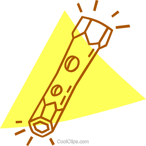 flashlight Royalty Free Vector Clip Art illustration vc059868
