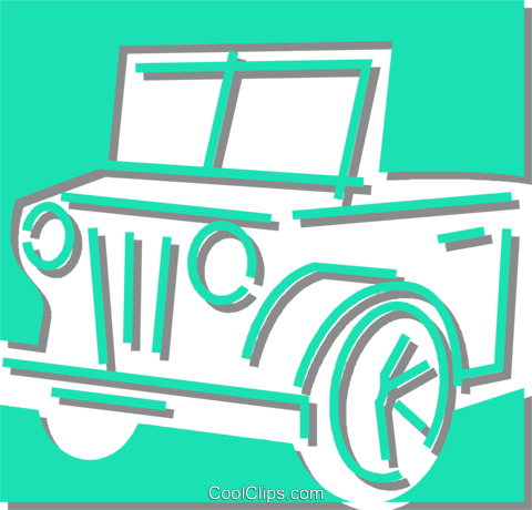 jeep Royalty Free Vector Clip Art illustration vc059872