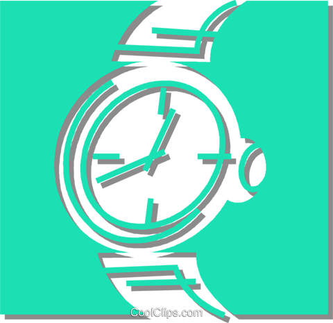 wristwatch Royalty Free Vector Clip Art illustration vc059873