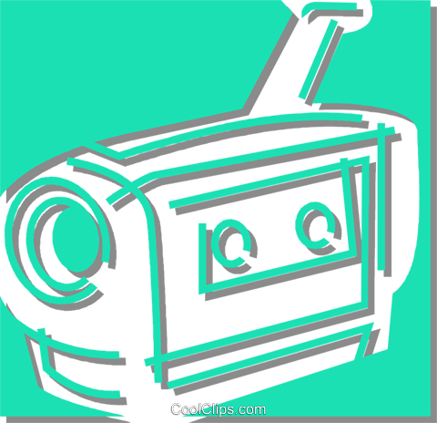 video camera Royalty Free Vector Clip Art illustration vc059877
