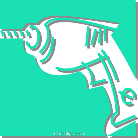 electric drill Royalty Free Vector Clip Art illustration vc059878