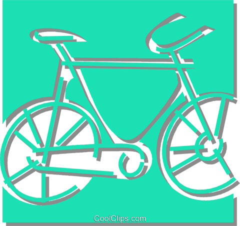bicycle Royalty Free Vector Clip Art illustration vc059883