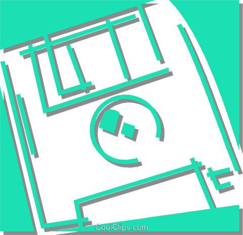 floppy disk Royalty Free Vector Clip Art illustration vc059891