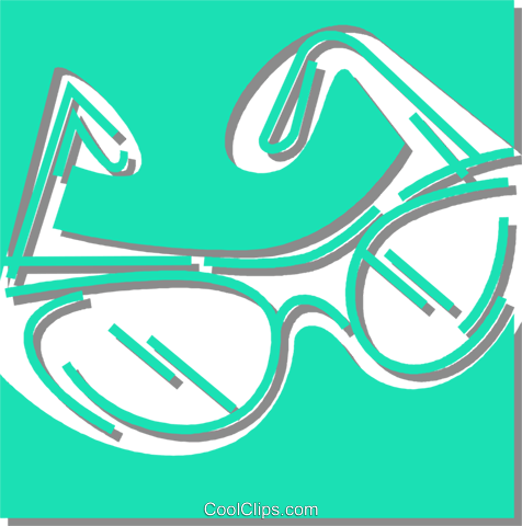 glasses Royalty Free Vector Clip Art illustration vc059896