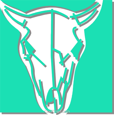 cows skull Royalty Free Vector Clip Art illustration vc059897