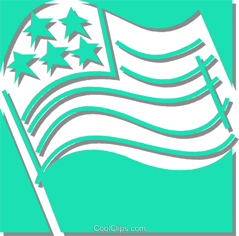 American flag Royalty Free Vector Clip Art illustration vc059901
