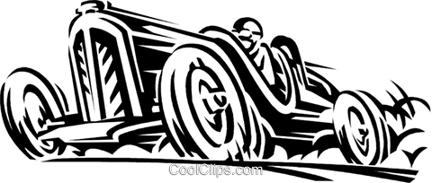 vintage race car Royalty Free Vector Clip Art illustration vc059922