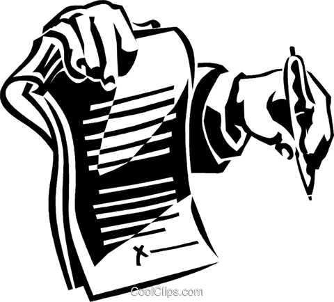 contract ready to be signed Royalty Free Vector Clip Art illustration vc059924