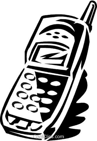 portable/cellular phone Royalty Free Vector Clip Art illustration vc059937