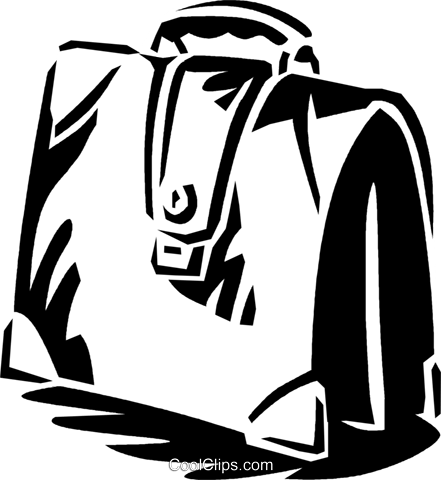 briefcase Royalty Free Vector Clip Art illustration vc059942