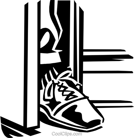foot in the door Royalty Free Vector Clip Art illustration vc059948