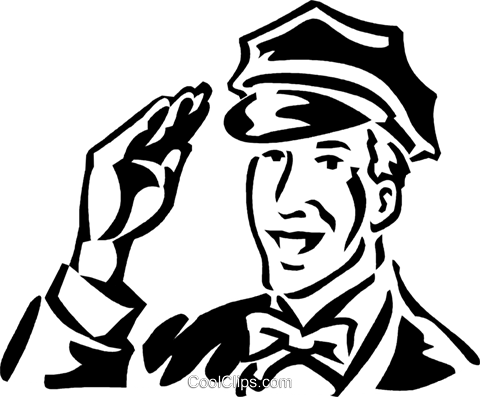 vintage service station employee Royalty Free Vector Clip Art illustration vc059951