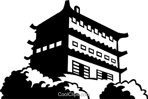 Asian temple Royalty Free Vector Clip Art illustration vc059962