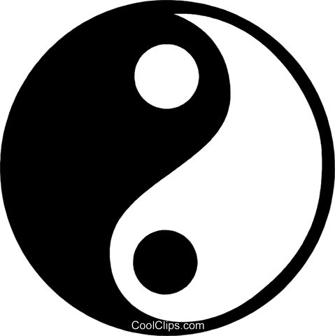 ying yang Royalty Free Vector Clip Art illustration vc059968