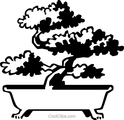 bonsai tree Royalty Free Vector Clip Art illustration vc059971