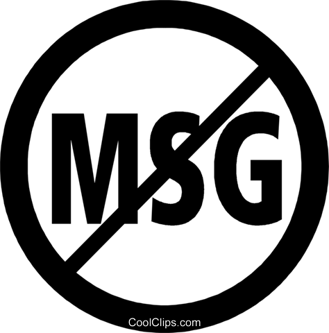no MSG sign Royalty Free Vector Clip Art illustration vc059977