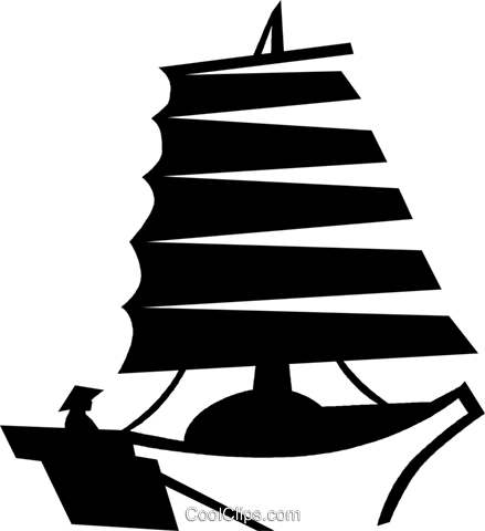 Chinese junk Royalty Free Vector Clip Art illustration vc059982