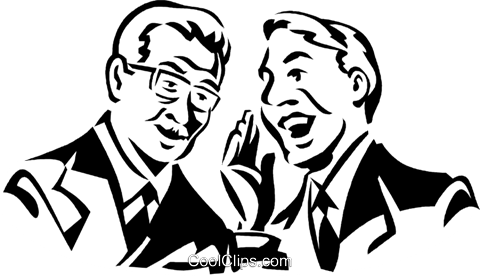 two men talking Royalty Free Vector Clip Art illustration vc059984